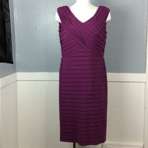 Adrianna Papell Woman Purple Tiered Dress Sz 22W